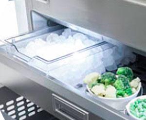 Fhiaba jäärasia kerää tuotettu jäätä